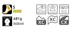 Shimano MTB SPD Shoes  SH-XC50N info
