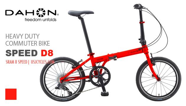 dahon-folding-bikes-speed-d8-red-unfold