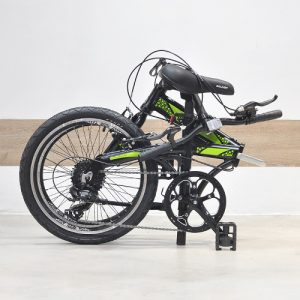 Raleigh UGO Folding Bike Green Folded