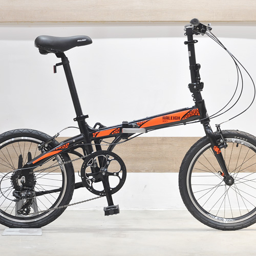 Raleigh UGO Folding Bike Orange